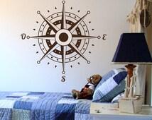 Beliebte artikel f r kompass aufkleber auf etsy - Wandtattoo kompass ...