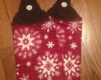 Crocheted Towel Topper Set - Snowflakes