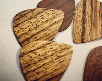 DiCiaccio African Zebrawood Handmade Wooden Guitar Pick, gifts for guitarists, gifts for guitar player, gifts for musicians