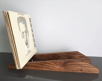 Walnut Vinyl Record Storage Display
