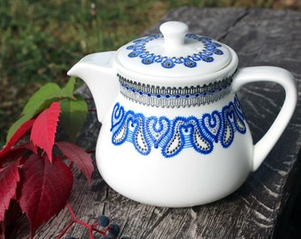 Hand painted porcelain teapot/coffee-maker