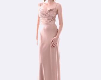 NEW SKIVA Satin Evening Dress - Champagne
