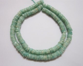 Amazonite Smooth Wheels , heishi beads