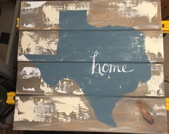 Texas Home Wood Art