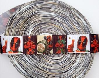"Deadpool 1"" Grosgrain Ribbon"