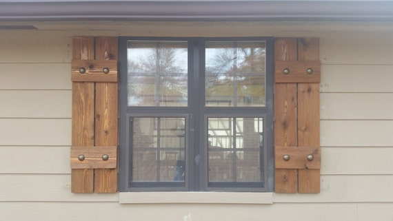 exterior shutters board and batten shutters rustic shutters wooden