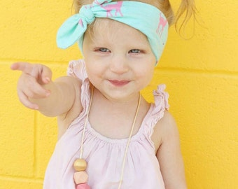 Baby and Toddler Girl's Knotted Headband. Pink Fawn