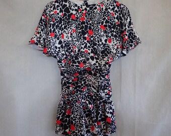 Silk Peplum Dress