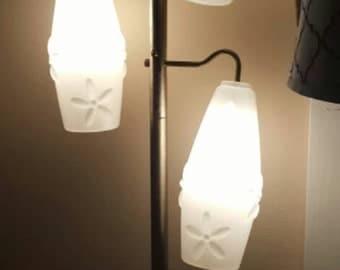 Mid century modern floor tension lamp