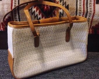 Vintage Liz Claiborne woven handbag.