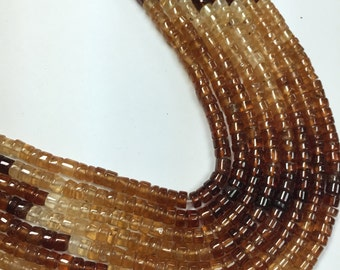 Hessonite Garnet Smooth Heishi Shaded, 4 to 4.5mm , 14.5 Inch Strand,