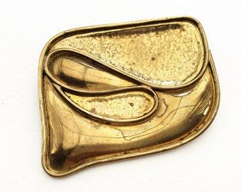Vintage Modernist Brooch Pin, 1960s 70s Statement Brooch, Vintage Costume Jewellery