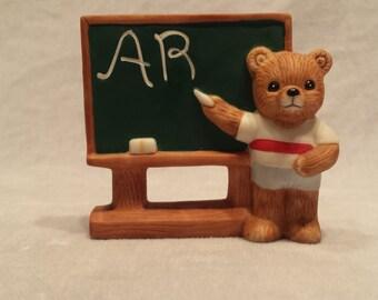 Homco 1409 School Days Teddy Bear Figurine