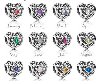 New Pandora Birthstone Heart Charm I have them all just pick the month!!