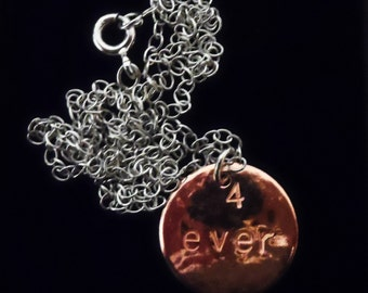 PN16- Textured copper disc and chain