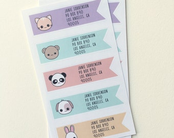 Kawaii Return Address Labels