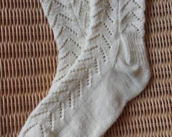 Hand knitted Ladies Latvian socks