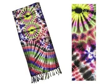 Tie Dye Fringed Scarf - Everything Multi - 1710R