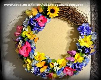 Beauty Full Butterfly Wreath
