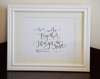 We Were Together - Print