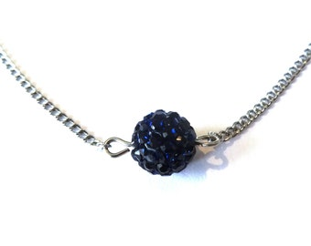 Dark blue Swarovski necklace