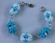 Tutorial beaded beads with super duos bracelet, Tutorial PDF, wire weave tutorial, jewelry tutorial