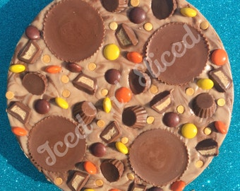 Reeses Fudge Pizza - handmade peanut butter chocolate gift