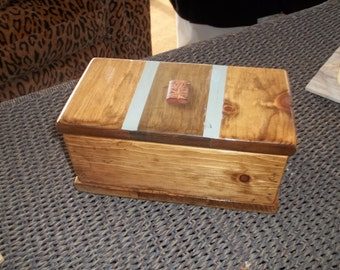 Handmade custom wooden box.