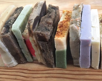 Soap Sampler Set, Travel Soap Set, Gift Soap Set, Soap Ends, Mini Soap, 1 ounce of Soap, Vegan Soap Set, Cold Process Soap, Thank You Gift