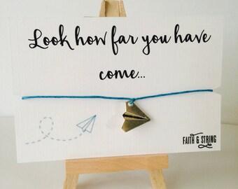 Gift for her paper plane charm bracelet