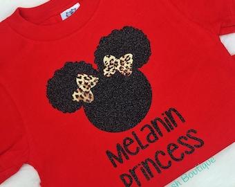Girls' Melanin Natural Hair Shirt T-Shirt