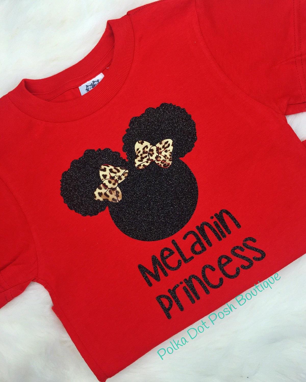 Girls Melanin Natural Hair Shirt T Shirt