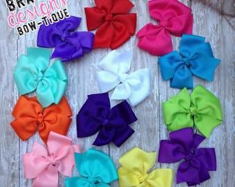 Solid Color Pinwheel Hair Bows