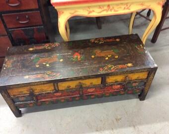 Vintage Tibetan Trunk