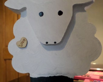 Wooden sheep ornament