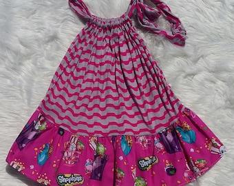 Shopkins Twirl Dress, shopkins dress, shopkins, baby girl dress,girls dress,flutter dress,handmade dress,baby dress,princess dress