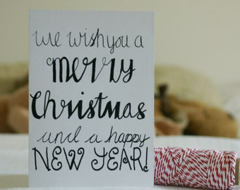 Christmas card: We wish you a merry Christmas and a happy new year!