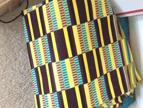 African Kente Print Ankara Kente Fabric