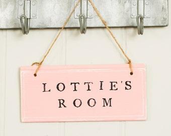 Childrens room sign - Personalised Room sign - Bespoke Door sign - Pink Door sign -