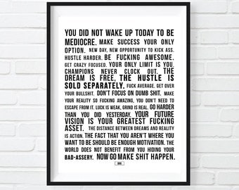 Best Motivational Quote Print, Motivation Poster, Always Be Closing, Sarcastic Print, Cool Poster, Gift for Boss Coworker, Boss lady