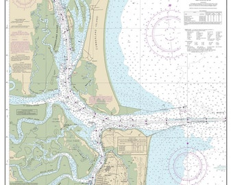 2013 Nautical Map of St Marys Entrance Georgia