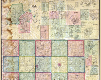 1864 Map of Seneca County Ohio