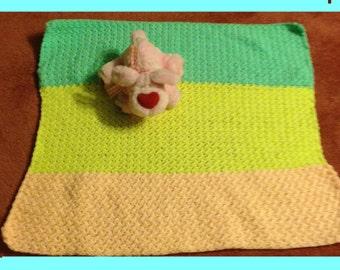 Rainbow crochet baby blanket