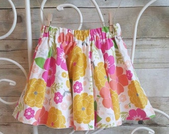 Karly Floral Circle Skirt Handmade Skirt Twirly Skirt Twirl Floral