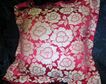 Bright Cyclamen Pink Silk Decorative Pillow