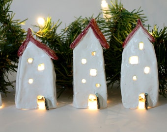 Small Red Roof Christmas Village
