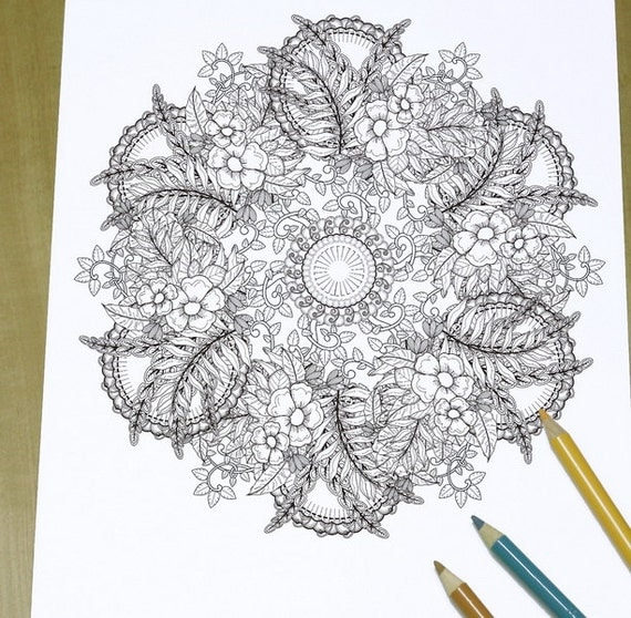 elegant printable adult coloring pages - photo#8