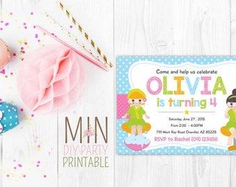 Spa Kids Invitation,Spa Birthday Invitation,Manicures Invitation, Kids Spa Party Invitation,Girls Spa Party Invitation,Spa Birthday Invite