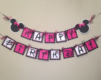 Minnie Mouse Birthday Banner, Minnie Birthday Party, Minnie Mouse Party, Minnie Party, Minnie Mouse Birthday Banner, Minnie Party Banner
