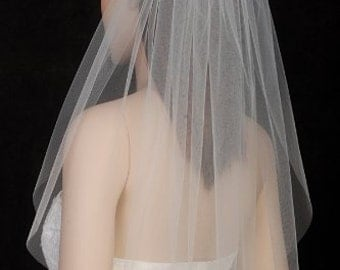 Two layer tulle veil